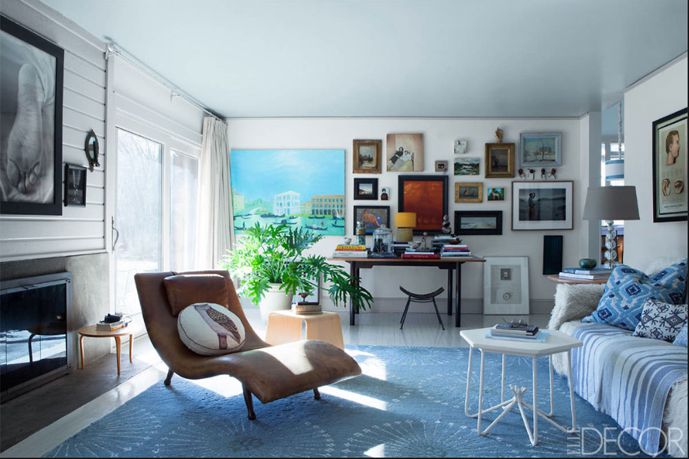 A Home Owner's Personality Is Displayed Through Art In Elle Decor